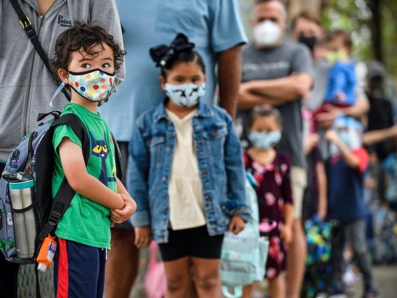 california school reopening student covid mask elementary school
