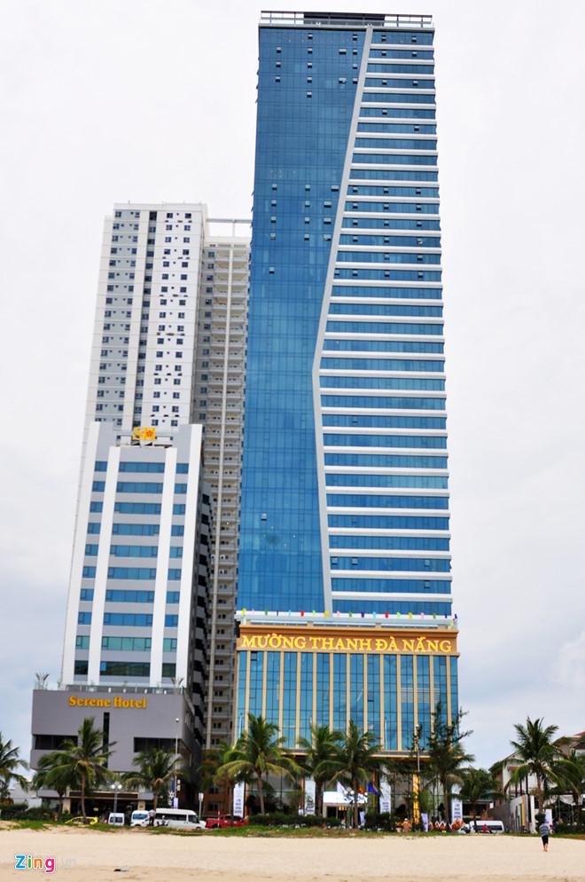 Dự án Tổ hợp khách sạn Mường Thanh và căn hộ cao cấp Sơn Trà. Ảnh: Đắc Đức.