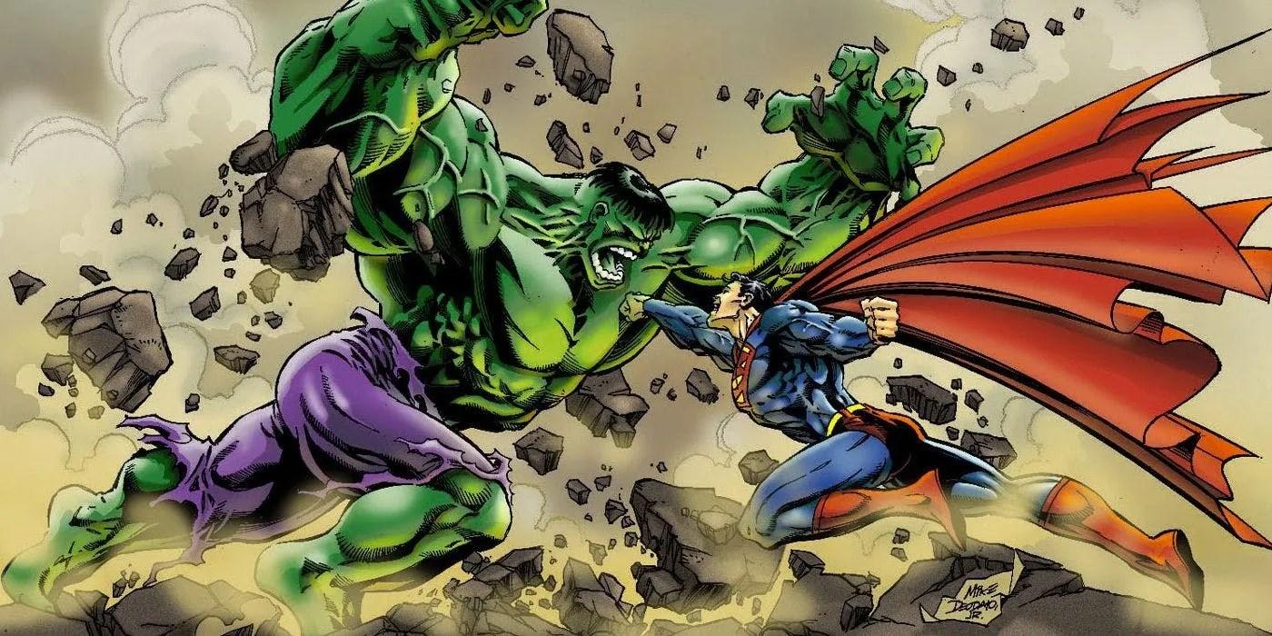Hulk Destroys Superman In Unpublished Marvel Vs Dc Art Cbr