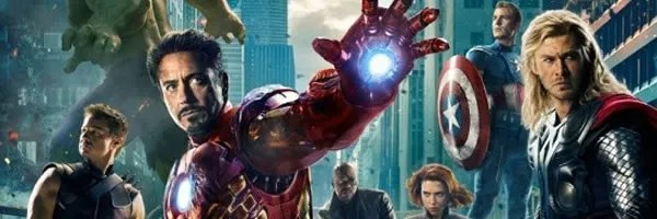 the avengers movie poster featuring the