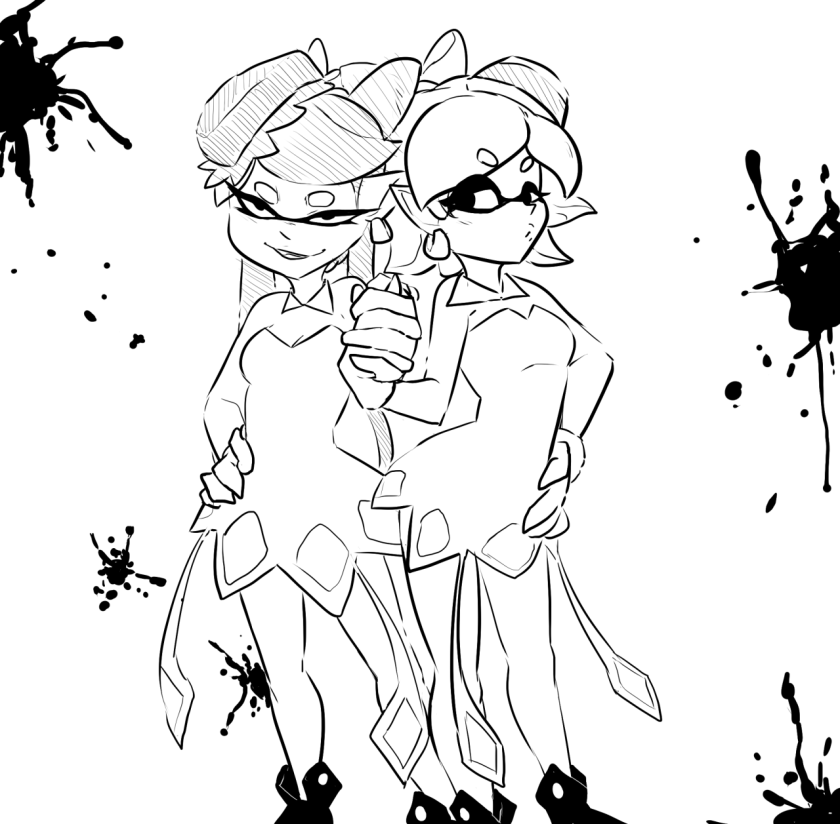 splatoon squid pages coloring pages