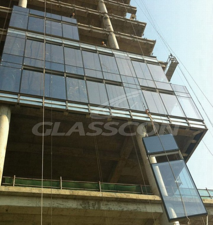 Curtain Wall System Manufacturers : Stick and unitized curtain wall system gopelling