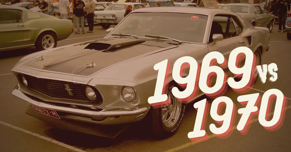 Ford unveiled another restyle in 1969,. Here S The Difference Between The 69 And The 70 Ford Mustang