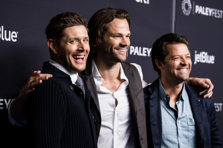 Actors Jensen Ackles, Jared Padalecki and Misha Collins attend the Paley Center for Media's 35th Annual PaleyFest Los Angeles