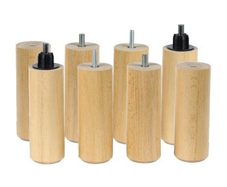 pieds cylindre naturel 17 cm x8 17 cm la compagnie du lit
