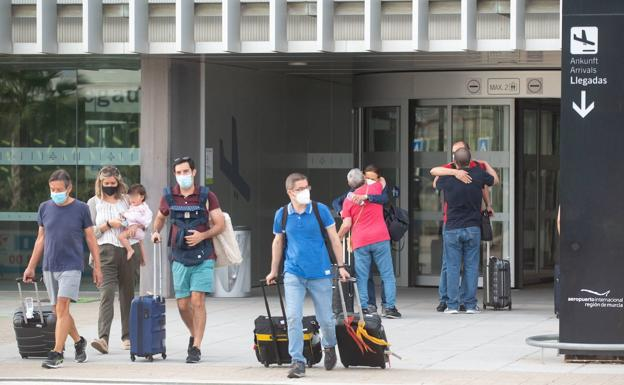 Tourists arriving at Corvera Airport, in a file image.