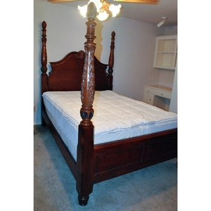 contemporary queen size four poster bed