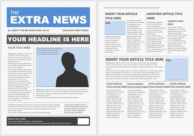 They can be something as simple as a straigh. 13 Free Newsletter Templates You Can Print Or Email As Pdf