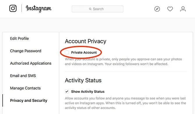 Instagram found unblock user not Locked Out