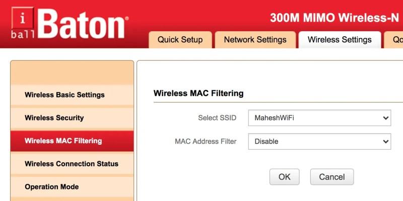 désactiver le filtrage Mac