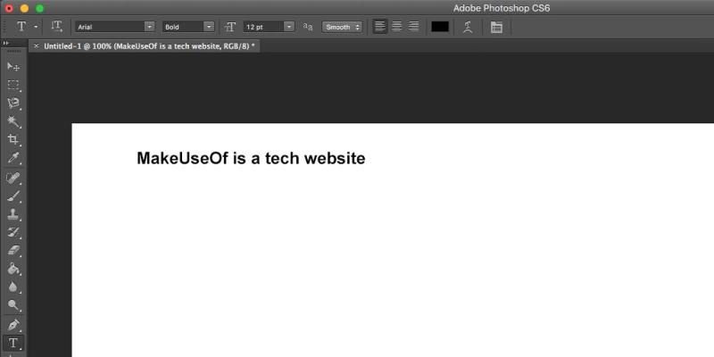 modificare il testo in Photoshop