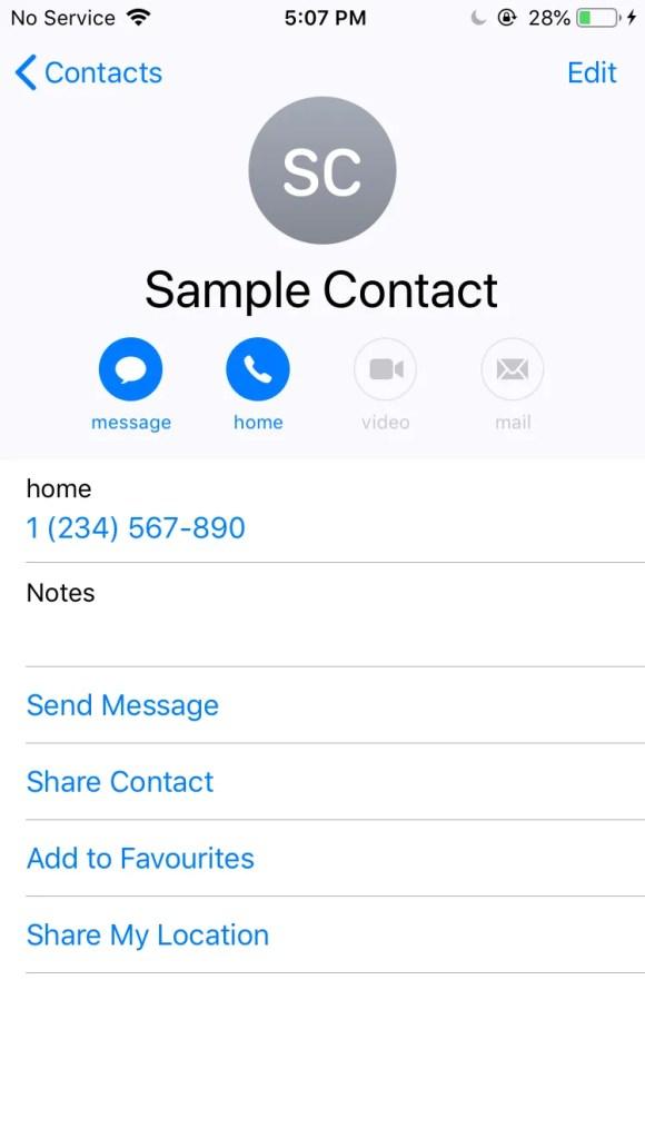 分享iPhone联系人