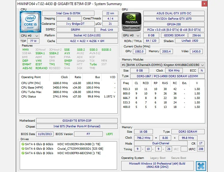 hwinfo windows 10 monitoring tool