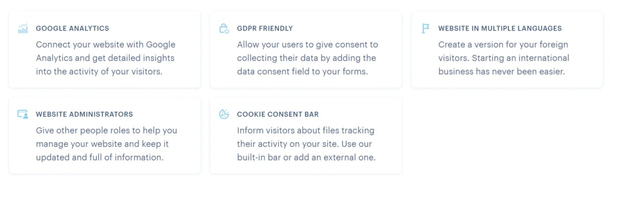 webnode features