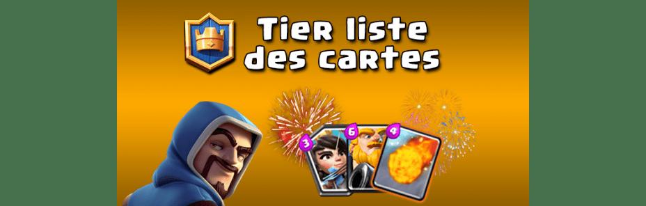 Tier Liste Des Cartes Clash Royale Millenium