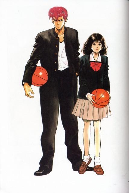 Takehiko Inoue, Slam Dunk, Hanamichi Sakuragi, Haruko Akagi