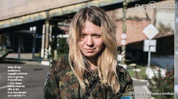 """La photo de la combattante en question publiée dans """"Elle"""""""