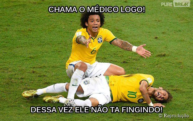 Não era mentira! Neymar se machucou pra valer!