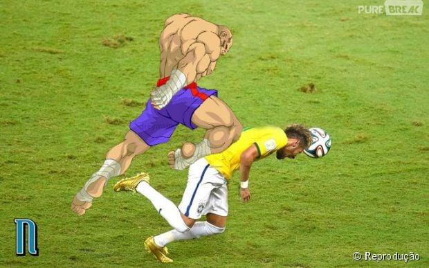 Sagat deu um golpe de muay-thai em Neymar!