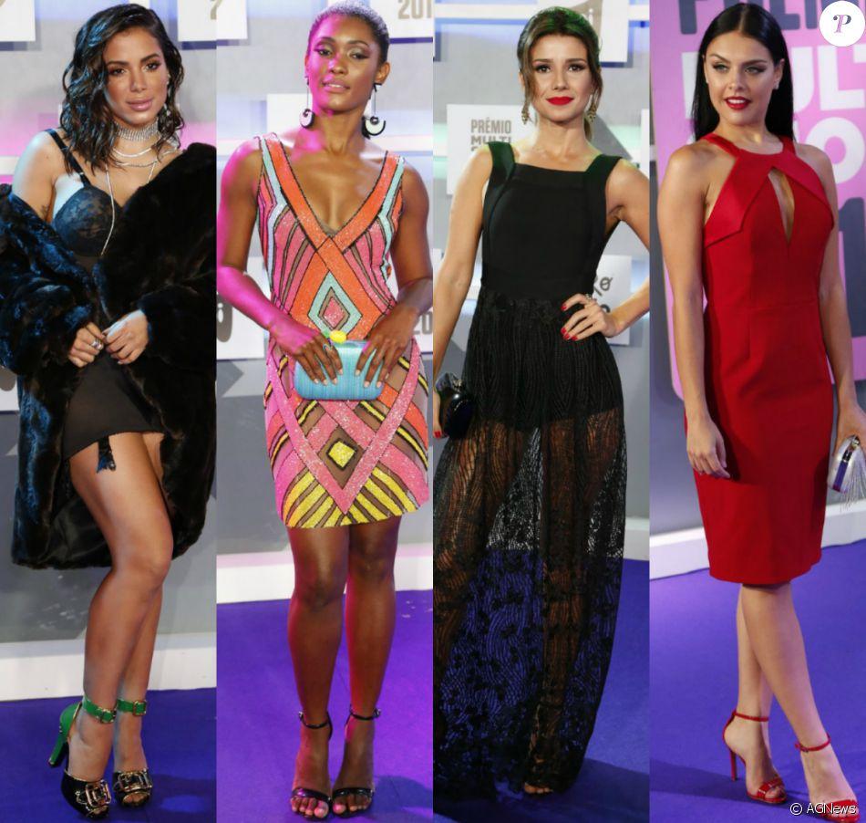 Veja fotos dos looks de Anitta, Paula Fernandes e mais famosas no Prêmio Multishow 2016
