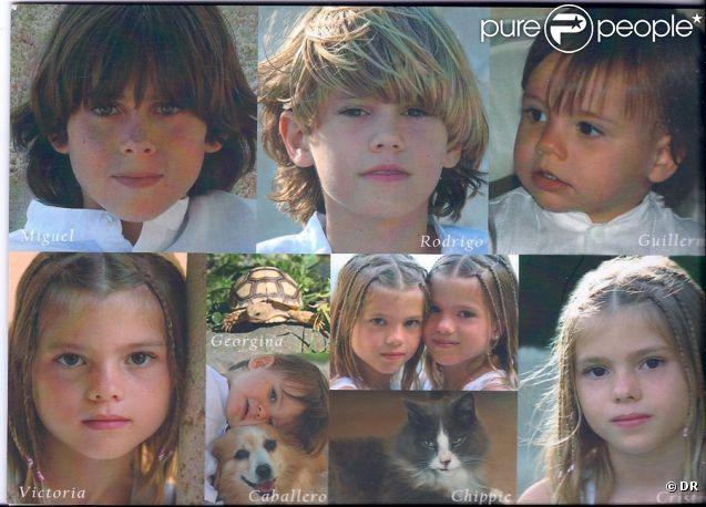 Les enfants Iglesias : Miguel, né en 1997, Rodrigo, né en 1999, Victoria et Cristina nées en 2001 et Guillermo né en 2007.