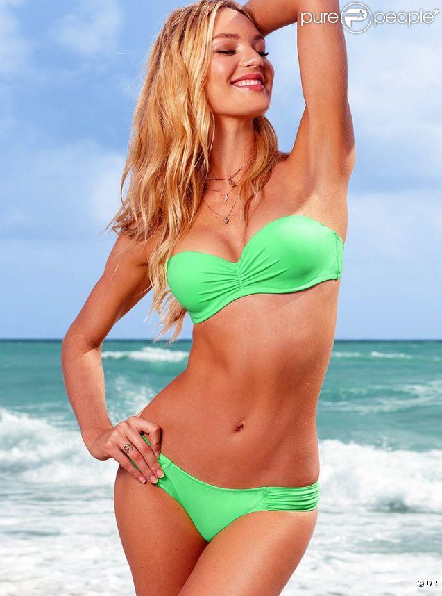 Candice Swanepoel, souriante et terriblement sexy pour Victoria's Secret Swim 2012.