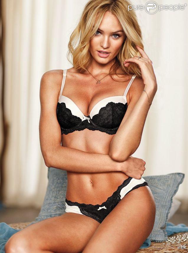 Candice Swanepoel, sexy en lingerie pour Victoria's Secret.