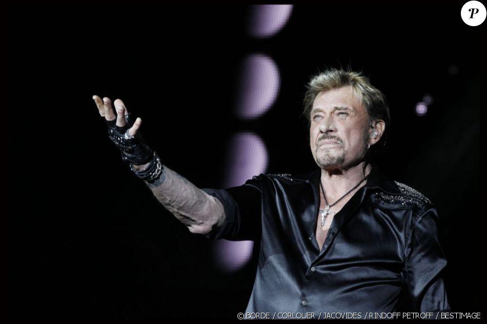 EXCLU : Johnny Hallyday en concert au Stade de France, le 16 juin 2012.