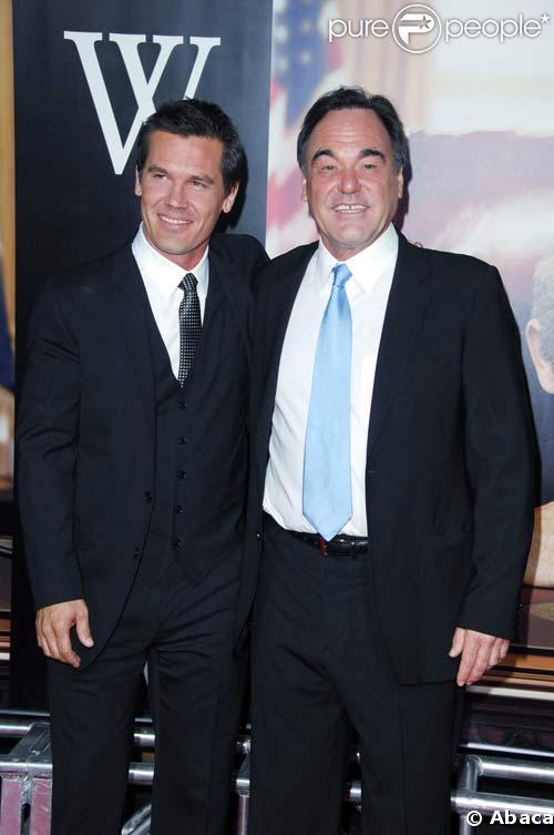 Josh Brolin et Oliver Stone à la première de W, à New York, le 14/10/08