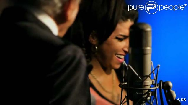Image extraite du clip  Body and soul  d'Amy Winehouse et Tony Bennett, septembre 2011.