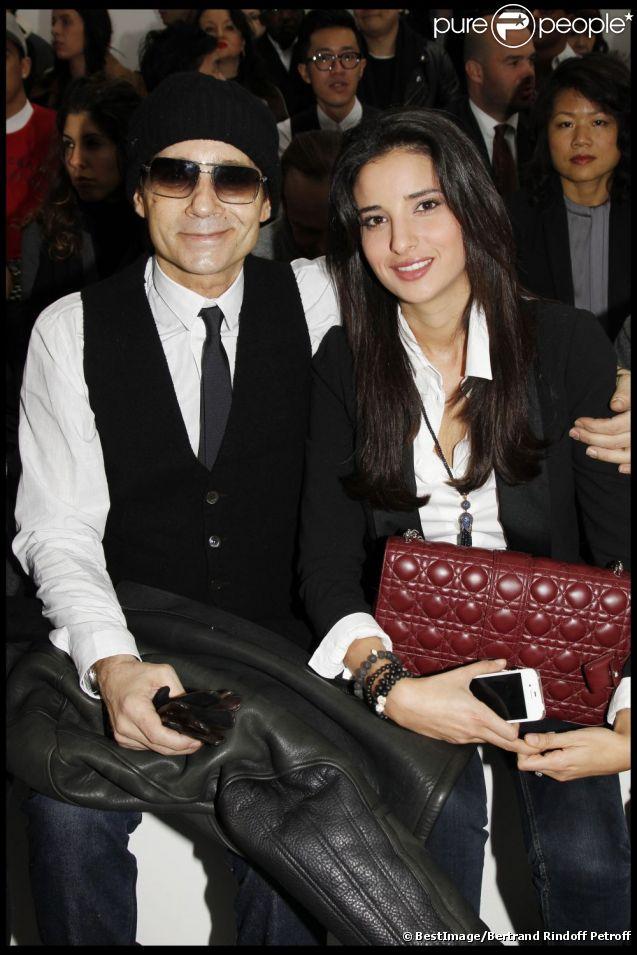 Jean-Luc Delarue et son épouse Anissa, lors du défilé Dior à Paris en janvier 2012