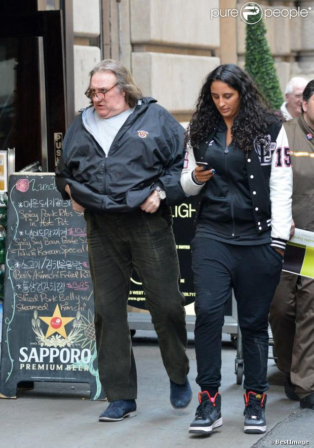 Depardieu With Daughter Roxanne In New York April