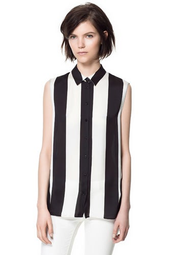 Zara-Combination-Striped-Blouse_$49