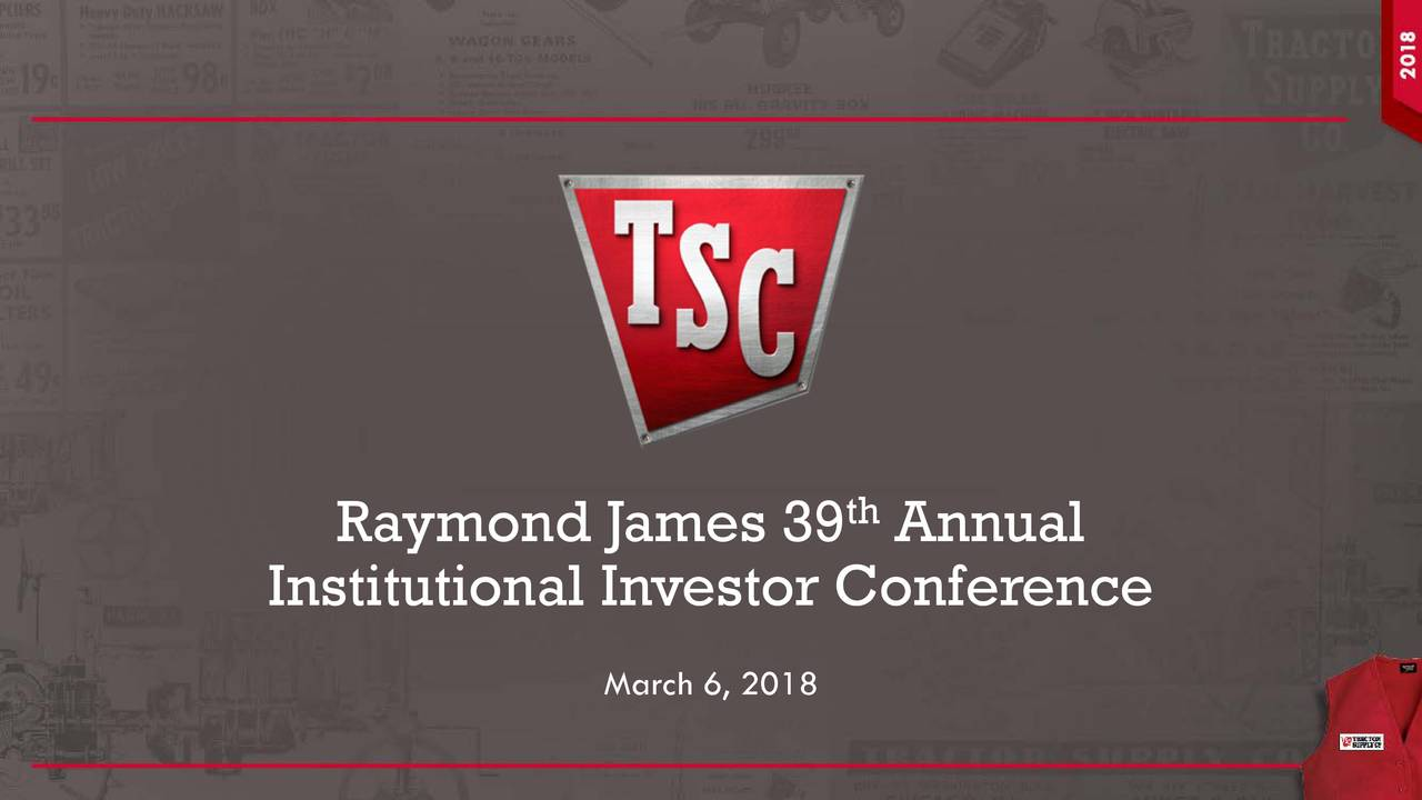 Tractor Supply (TSCO) Presents At Raymond James 39th ...