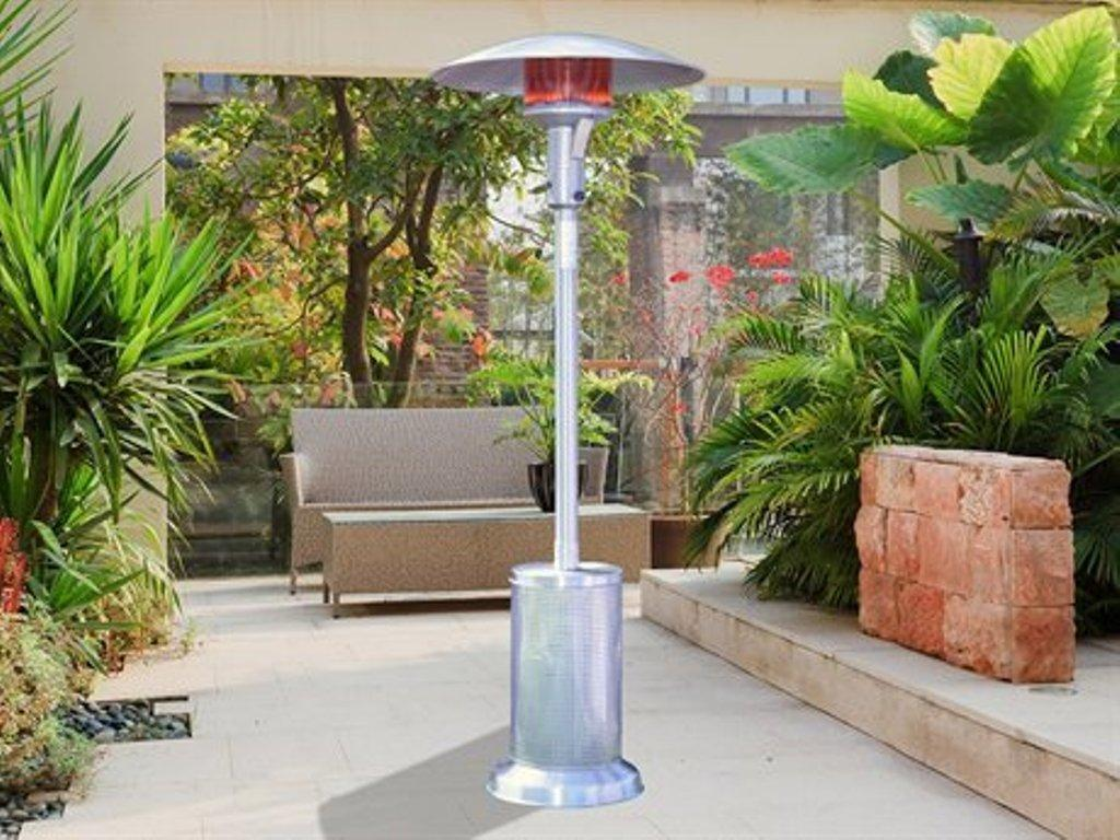 sunglo a270 ss fine portable liquid propane gas patio heater stainless steel greatgrills com