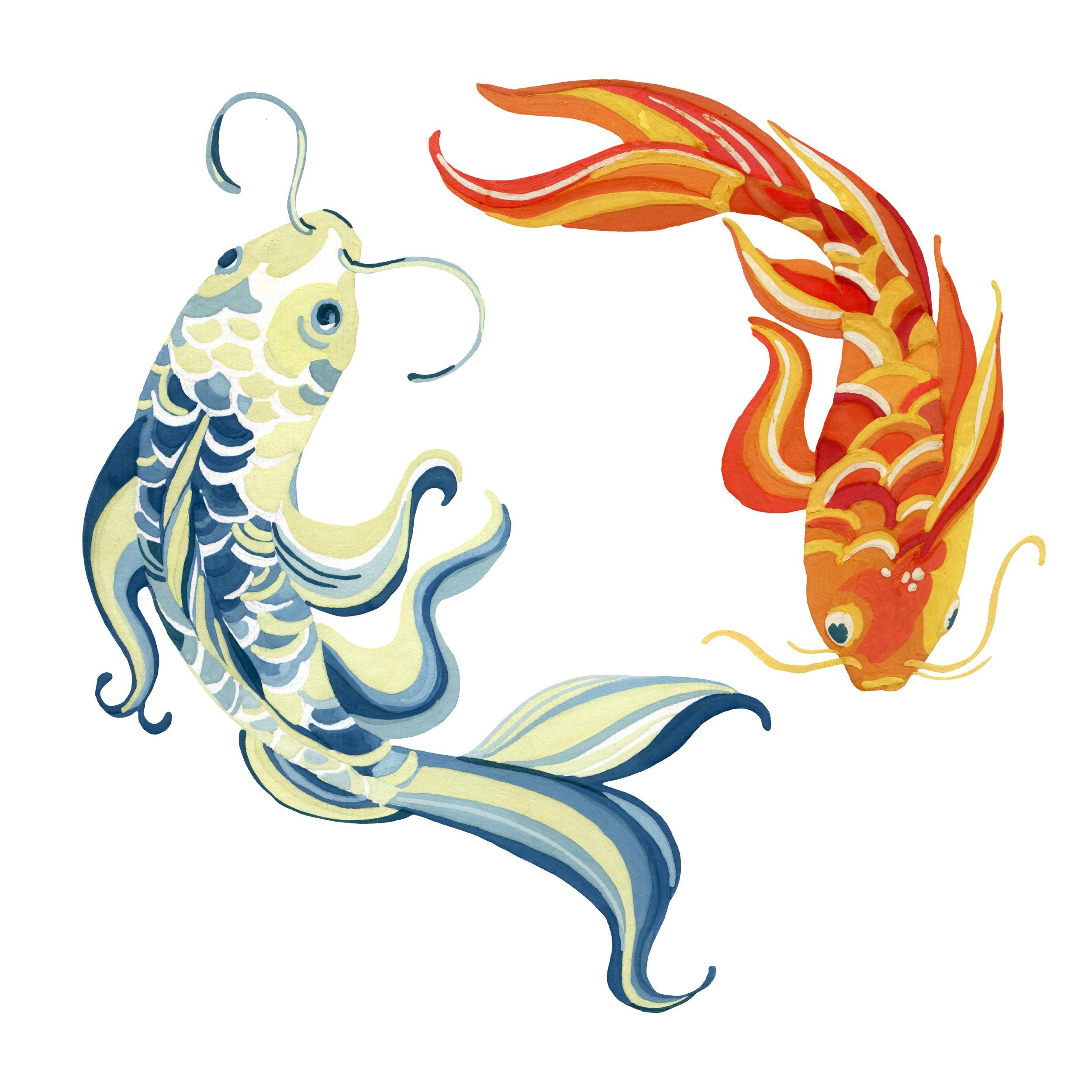 Avatar Koi Fish Yin Yang Www Topsimages Com