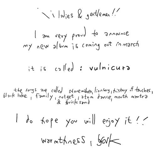 Björk announces her new album