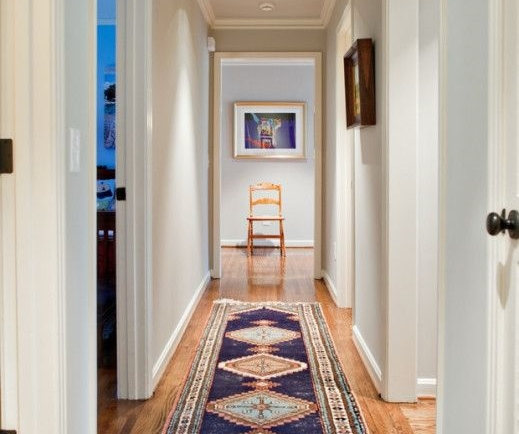 7 DIY Cures For The Claustrophobia Caused By Long  Narrow Hallways     Designer  Dovetail Design Works  amp  The Wills Company   Kws  narrow  hallway vista