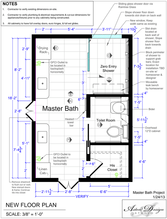 Accessible bathroom plans