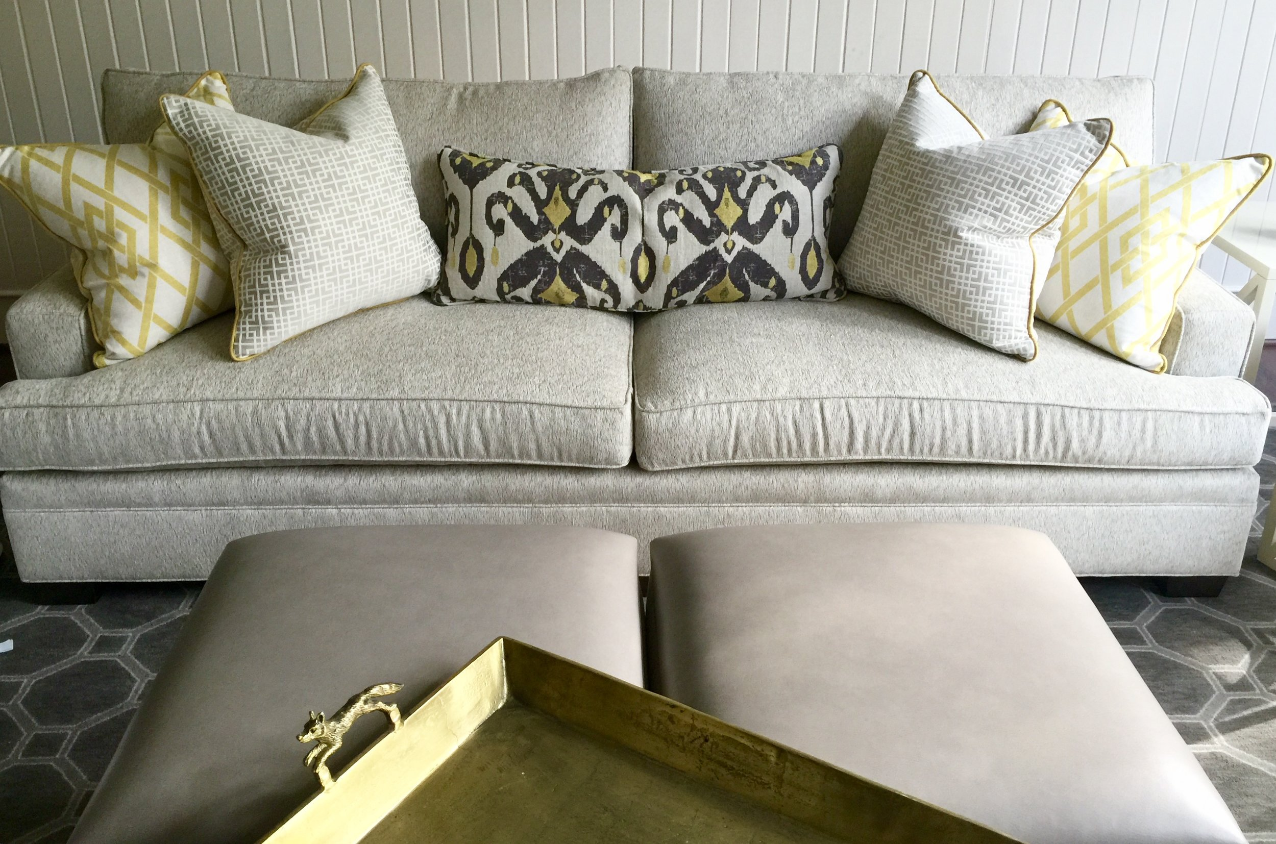 How To Pick Perfect Decorative Throw Pillows For Your Sofa  Bed Or     Custom pillows   4 large with long lumbar  Designer  Carla Aston