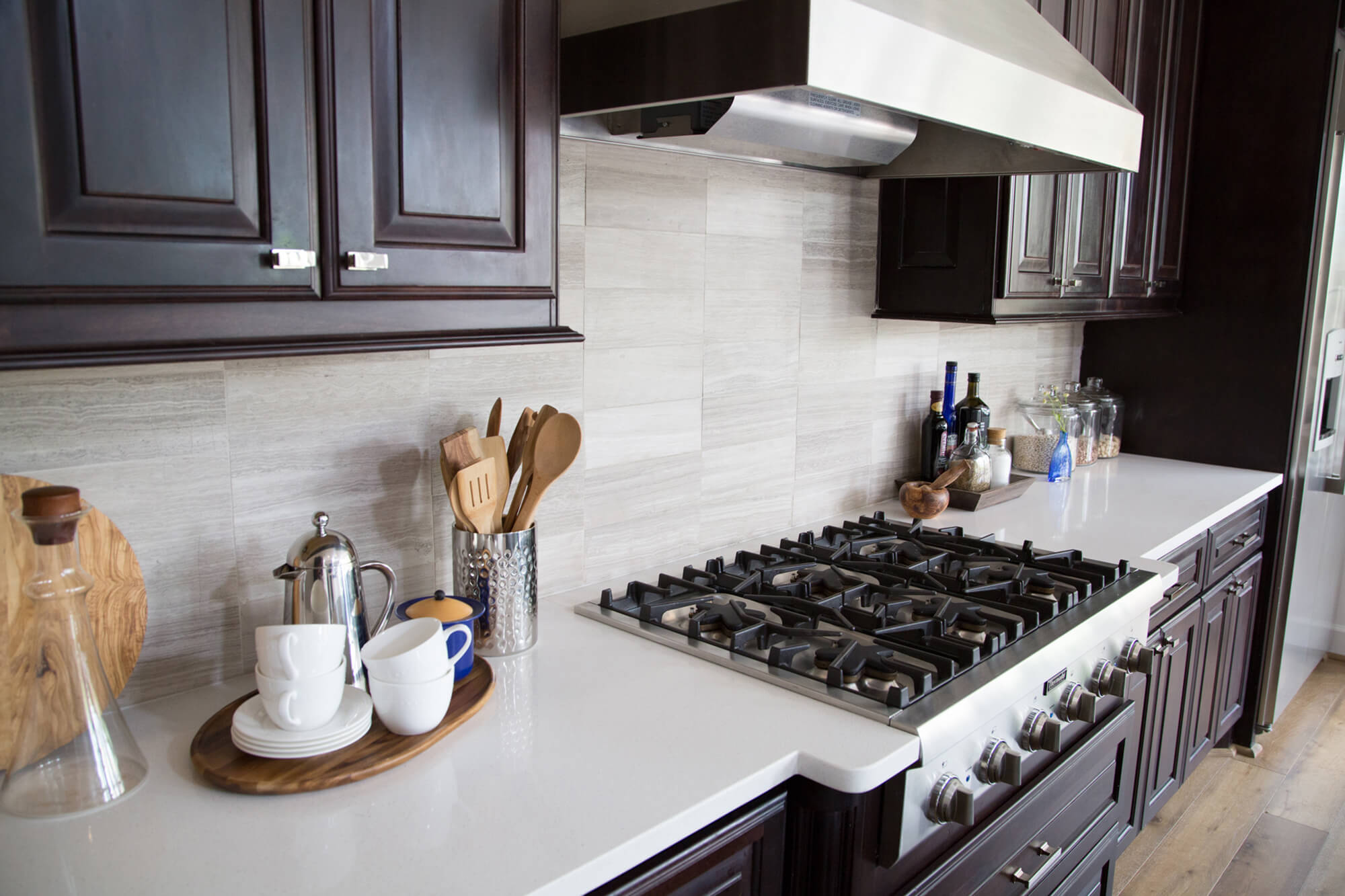 When To Use A Natural Stone Backsplash And When NOT To ... on Best Backsplash For Granite Countertops  id=89171