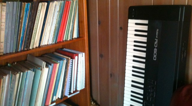 The  Roland keyboard  I use for composing.