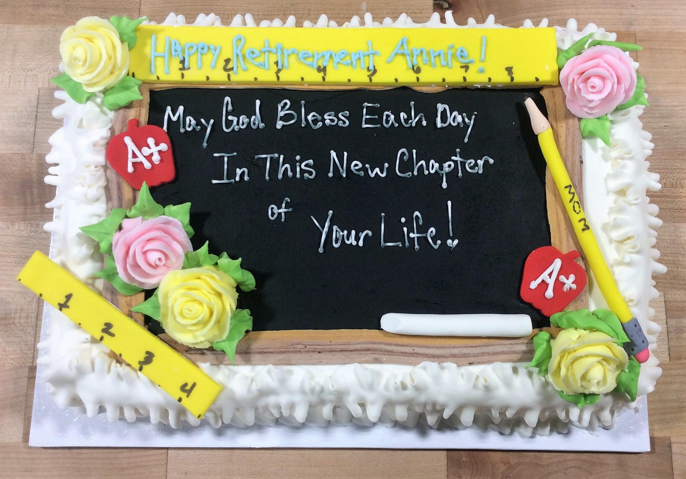 Teacher Retirement Sheet Cake Trefzgers Bakery