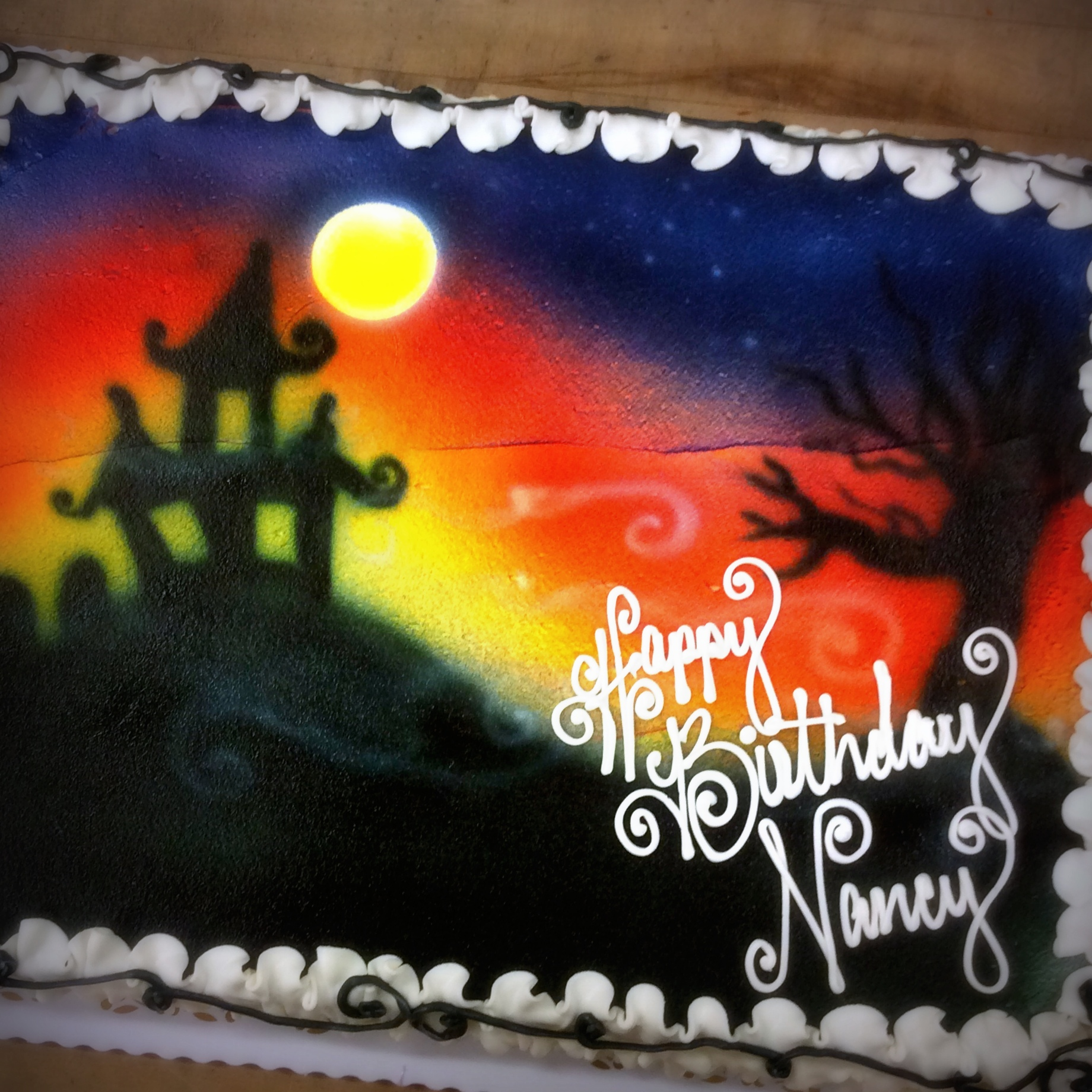 images of halloween sheet cakes