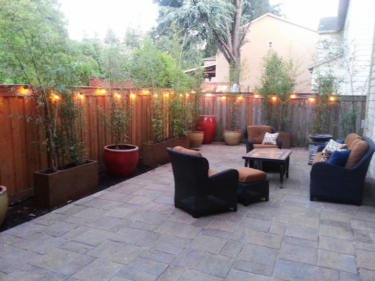 Portland Paver Patio- Before & After on Backyard Concrete Patio Designs  id=42266