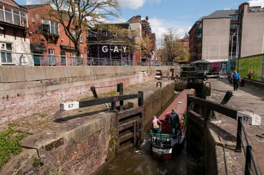 Canal Barge at Manchester Gay Village