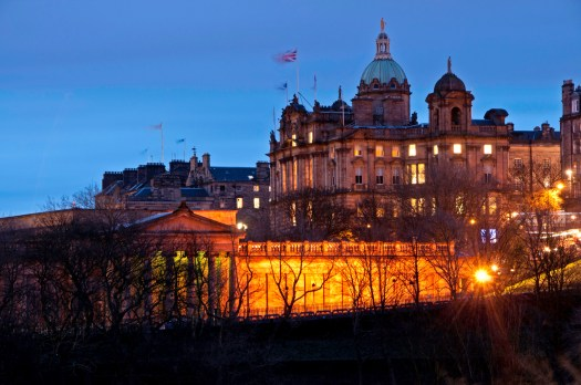 The Scotsman Hotel at Night, Edinburgh