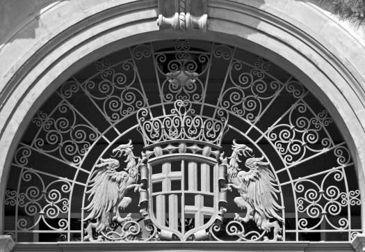 Ornate Iron Work above Door