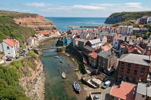 Staithes Harbour and Village