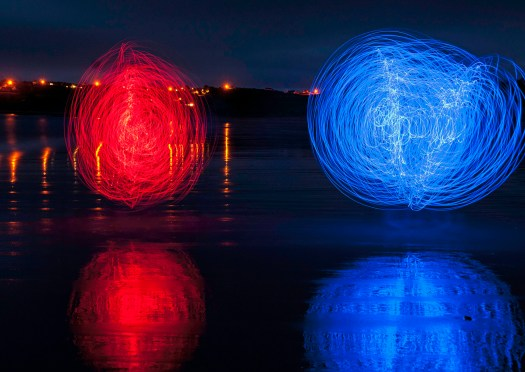 Red and Blue Reflections